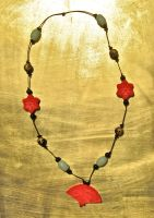 Oriental Knotted Necklace by Key-Kingdom