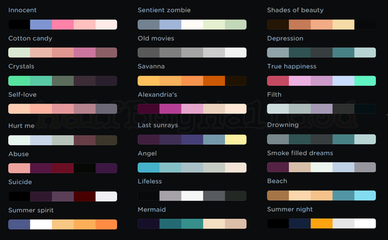 My second palettes by CreepyPastaGirl1212