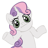 Shrugpony Sweetie Belle by MoongazePonies
