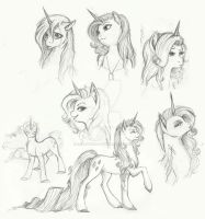 Rarity Doodles by Earthsong9405