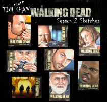 Walking Dead Season 2 sketches page 2 by Dr-Horrible