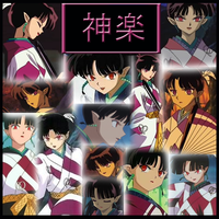 Inuyasha-Kagura Collage by Strawberry-of-Love