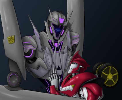 Soundwave and Knock Out by Wrecker-lady