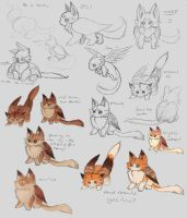 Character design process by NezuPanda