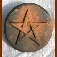 SmokeFire Clay Pentacle Brooch by RowanSong