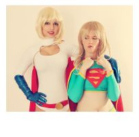 Supergirl and Powergirl - DC Comics by WhiteLemon