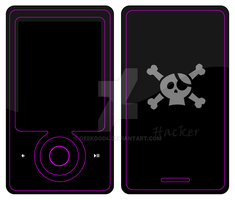 Hacker For Zune with text by GeekGod4