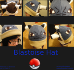 Blastoise Hat commission by SaraCorgi