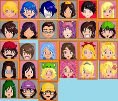 Anime Face Maker Collage by PaperIz