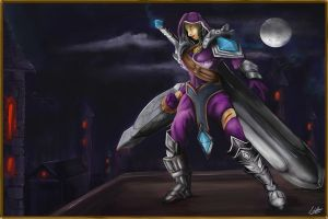 Dragon Huntress by ludocreator