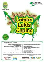 Poster Lomba Lukis Caping by deGimbalz