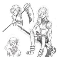 Maka sketches by Pastels-and-Blood