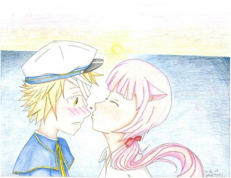 Oliver and Iroha by Zezzynezzy