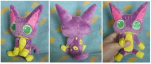 Poka Poka Liepard plush for Poke-Rose13 by SilkenCat