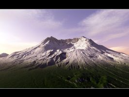 Terragen - Mt Saint Helens v2 by CrAzYmOnKeY