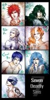 -Sketch- Seven Deadly Sins by BeBelial
