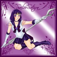 Sailor Saturn Flower Frame by phoenixcrash
