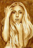 Lady Gaga - Grean Tea Painting by yib91