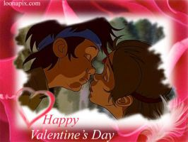 Irene And Curdie ValentineCard by SSMGobbyLover