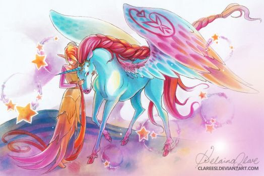My Unicorn by Clareesi