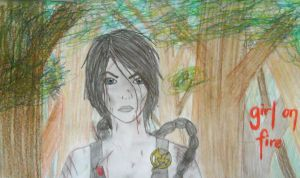 Girl On Fire by art-is-an-expression