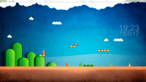 Mario 8bit Simple Desktop by suinkka
