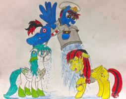 Moonsong and Author accept the Icebucket Challenge by BravoKrofski