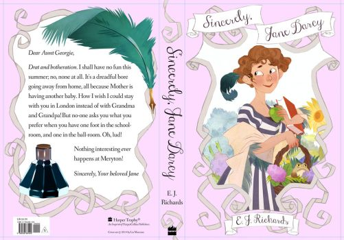 Sincerely, Jane Darcy Cover by lemonflower