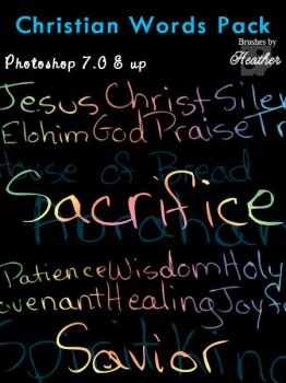 Christian Words Brush Pack by GeneveveX