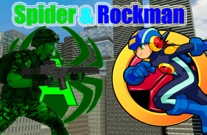 Spider and Rockman by ASpider25