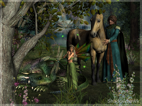 Fairy Scene (finished) by Shadowhawk9973