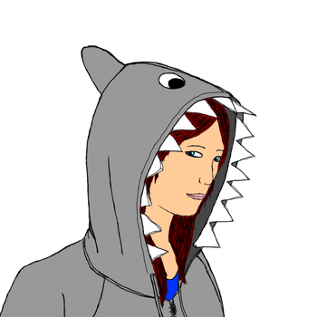 Shark Hoodie by iconographi