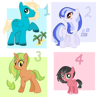 Pony adoptables - open! by RedTallin
