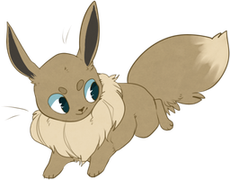 blooby eevee by crwns