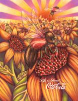 coca cola bees by reelphine