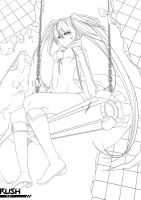 Black Rock Shooter - Free to colour by Galactic-Rush