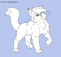 Cat Line art by MajuFogo