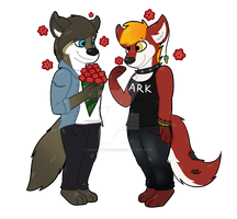 For Me? by Rainbow-Moose