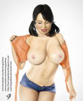 Sophie Howard digital painting by Learningasidraw  by Learningasidraw