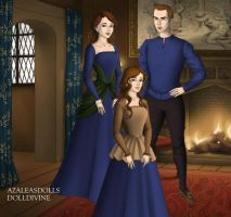 Twilight - Edward, Bella and Renesmee, Tudor Style by TFfan234