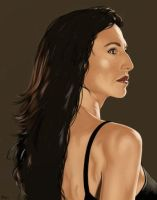 Claudia Black Portrait. by garrypfc
