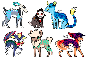 Cross Species Adopts Batch -Closed- by SpottedCrows