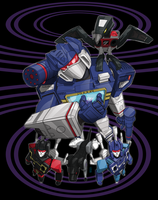 Soundwave crew redux for t-shirt contest by cgrapa