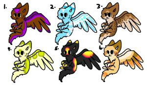 Fox-Bird Adopts by DreamRoseBrook151