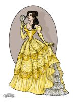 Belle and the Mirror by LaTaupinette