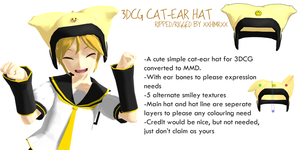 _DL_ Cat-ear hat from 3DCG by xXHIMRXx