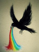 Black are rainbows by kristina323