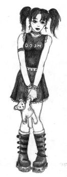 Cute Little Goth Girl by the-peppermint-kid