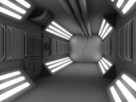 WIP 3 Sci Fi Corridor by 2753Productions