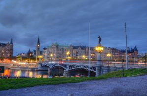 Ostermalm at Dusk by HenrikSundholm